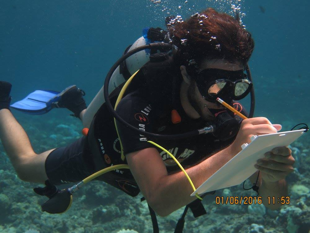 nico-member-research-team-gili-shark-conservation-project