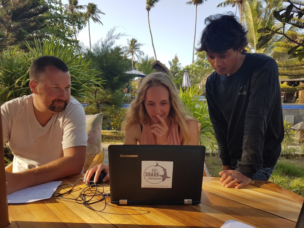 Inputting The Data Of Our Coral Health Index Dive