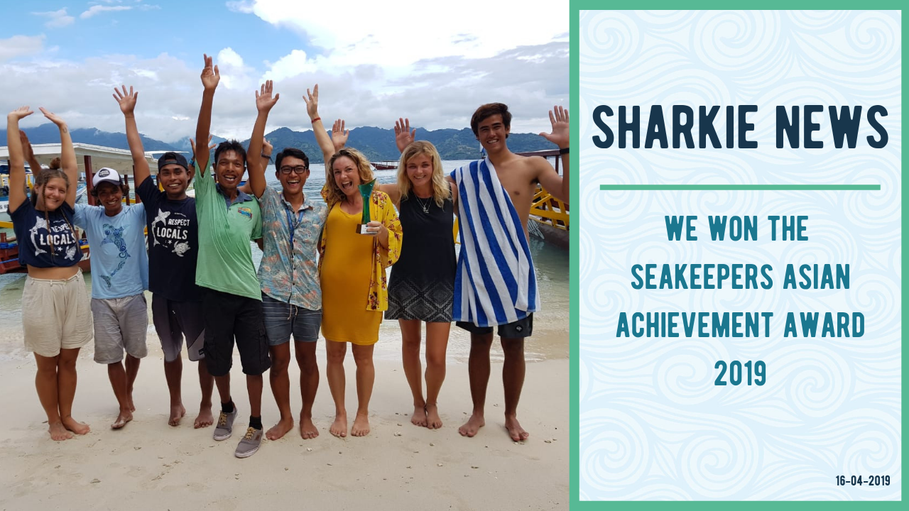 Gili Shark Conservation Project wins the International Seakeepers Society Asian Achievement Award