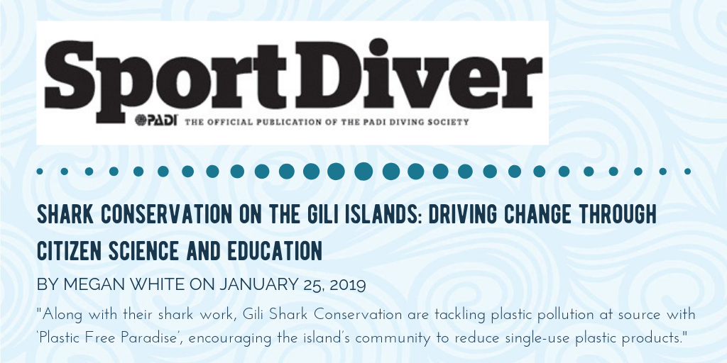Article about The Gili Shark Conservation Project In Sport Diver