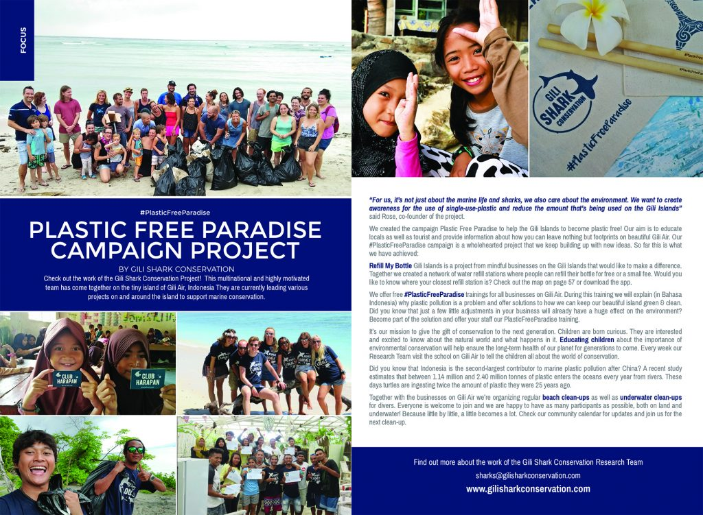 Article About The Gili Shark Conservation Project in Gili Life Magazine